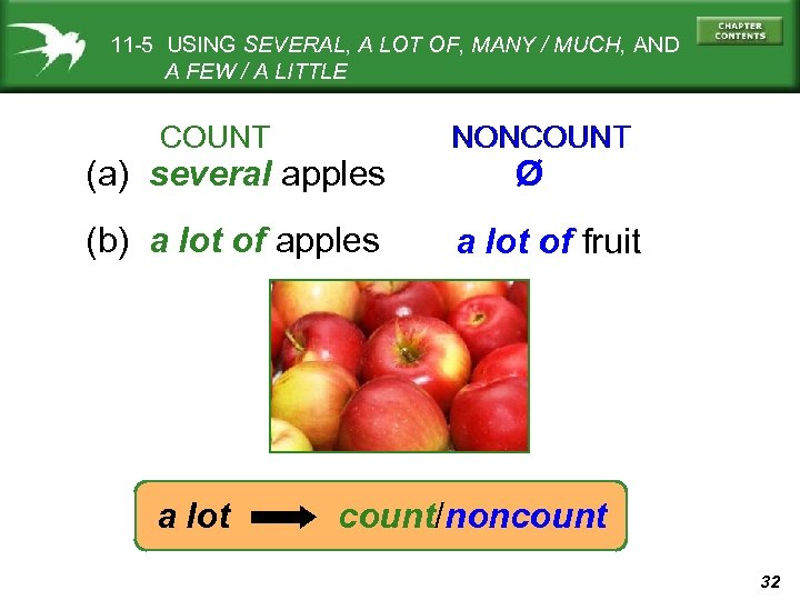 11 -5 USING SEVERAL, A LOT OF, MANY / MUCH, AND A FEW /