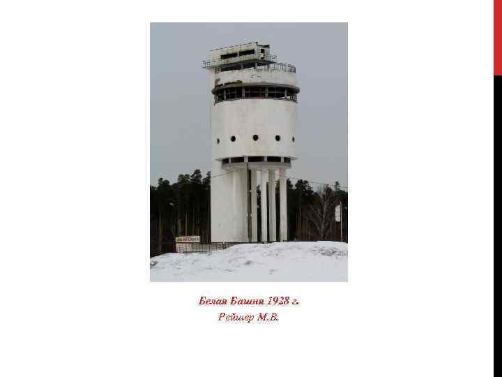 Белая Башня 1928 г. Рейшер М. В.