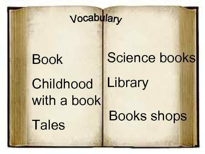 Book Science books Childhood Library with a book Books shops Tales