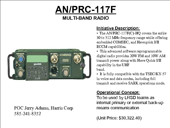 AN PRC-150 HF system that is secure 1