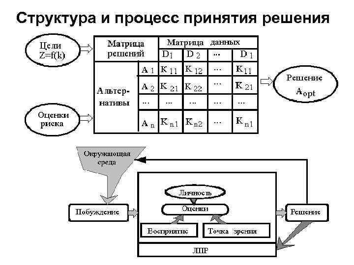 Структура и процесс принятия решения