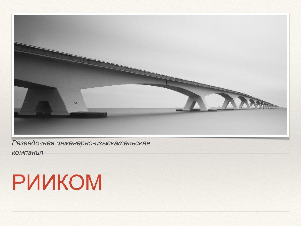 Разведочная инженерно-изыскательская компания РИИКОМ