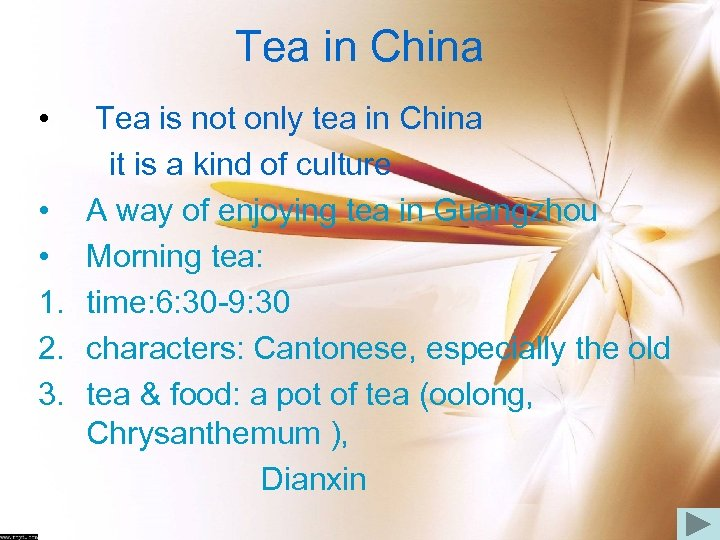Tea in China • Tea is not only tea in China it is a