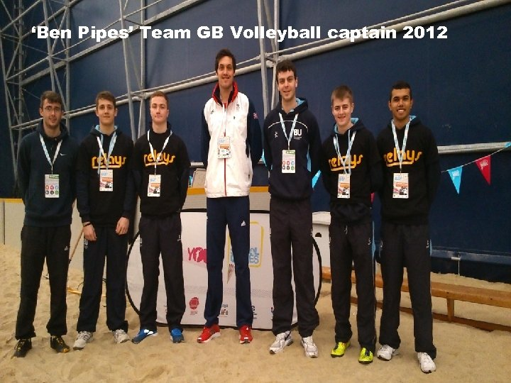 'Ben Pipes' Team GB Volleyball captain 2012