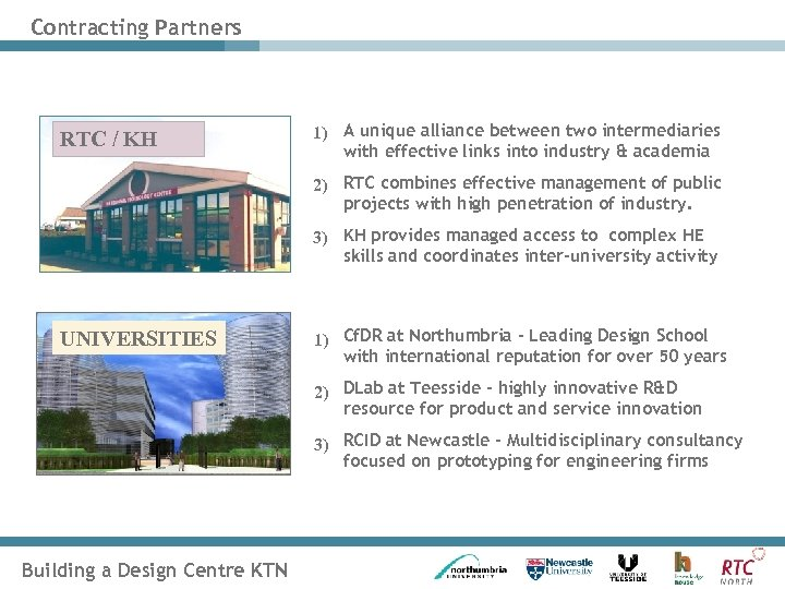 Contracting Partners RTC / KH 1) A unique alliance between two intermediaries with effective