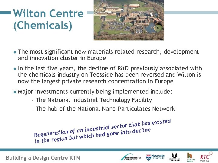 Wilton Centre (Chemicals) l The most significant new materials related research, development and innovation