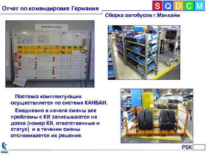 Отчет по командировке Германия Сборка автобусов г. Манхайм Поставка комплектующих осуществляется по системе КАНБАН.