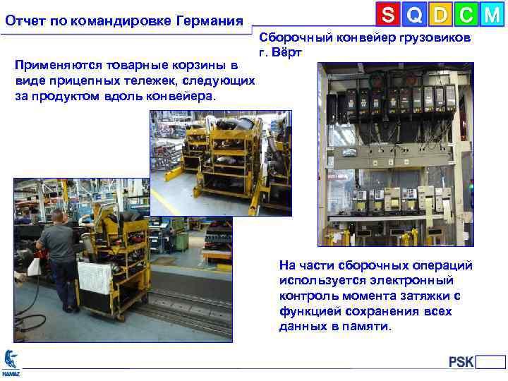 Отчет по командировке Германия Применяются товарные корзины в виде прицепных тележек, следующих за продуктом