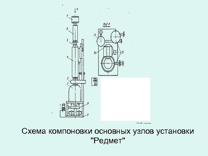 Схема компоновки основных узлов установки