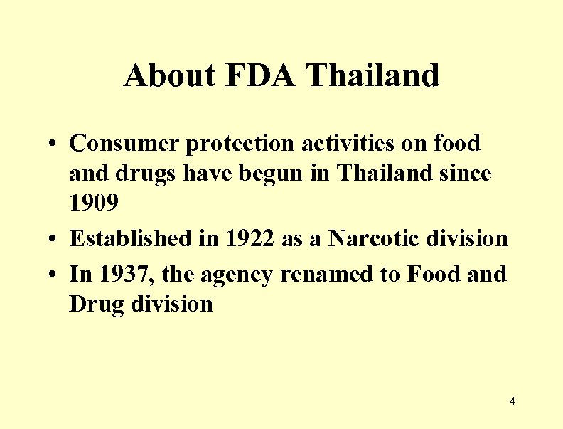 About FDA Thailand • Consumer protection activities on food and drugs have begun in