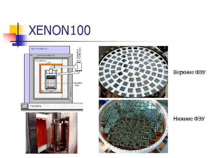 XENON 100 Верхние ФЭУ Нижние ФЭУ
