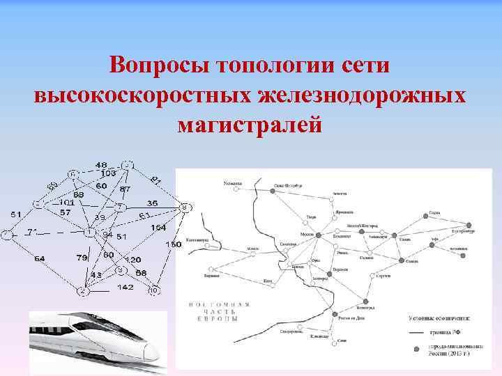 Вопросы топологии сети высокоскоростных железнодорожных магистралей