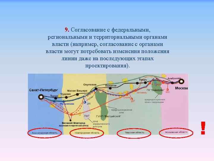 9. Согласование с федеральными, региональными и территориальными органами власти (например, согласование с органами власти