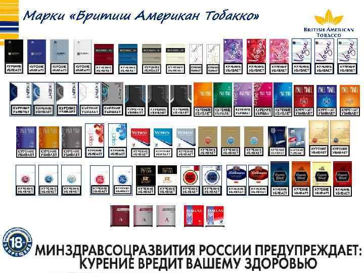 Бритиш американ тобакко сигареты купить ооо время краснодар табачные изделия