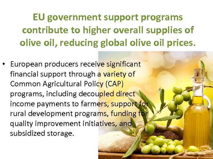 Importance of olive-oil production in Italy By Potapenko