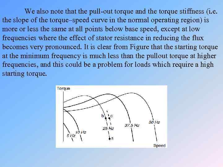 We also note that the pull-out torque and the torque stiffness (i. e. the