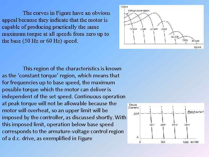 The curves in Figure have an obvious appeal because they indicate that the motor