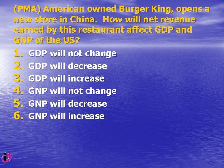 (PMA) American owned Burger King, opens a new store in China. How will net