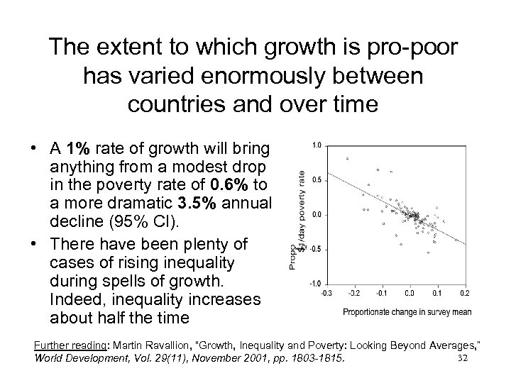 The extent to which growth is pro-poor has varied enormously between countries and over