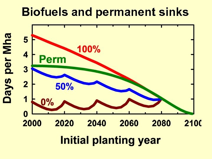 Biofuels and permanent sinks