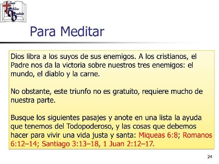Para Meditar 24