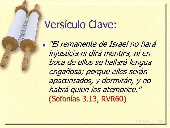 Versículo Clave: n