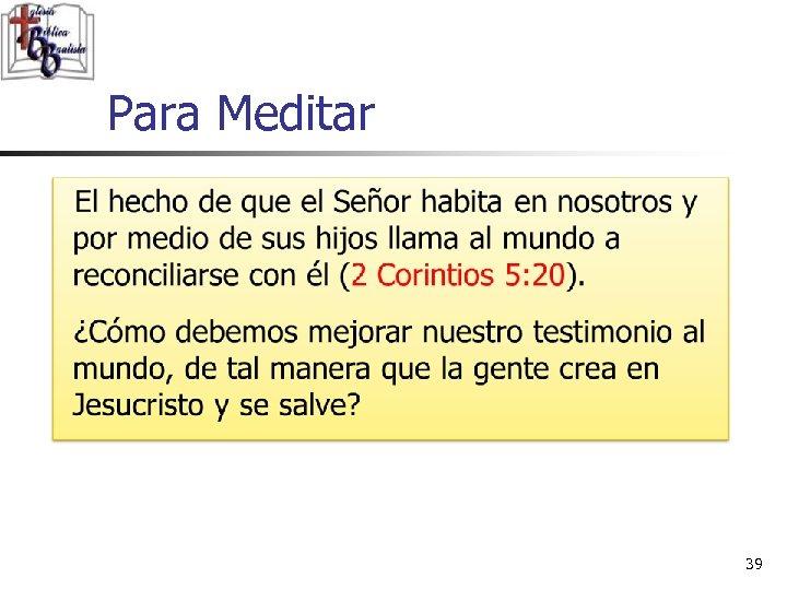 Para Meditar 39