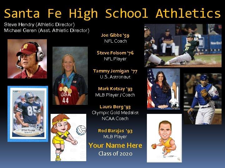 Santa Fe High School Athletics Steve Hendry (Athletic Director) Michael Geren (Asst. Athletic Director)