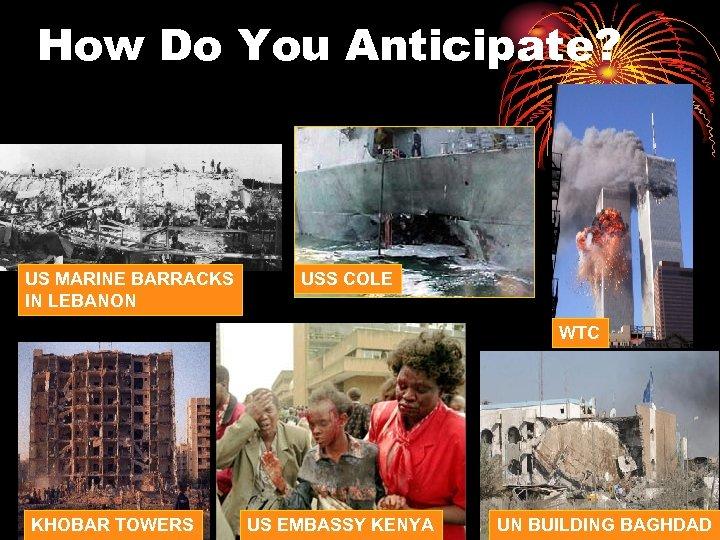 How Do You Anticipate? US MARINE BARRACKS IN LEBANON USS COLE WTC KHOBAR TOWERS