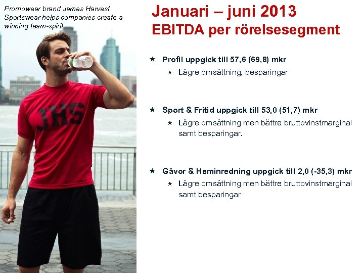 Promowear brand James Harvest Sportswear helps companies create a winning team-spirit. Januari – juni