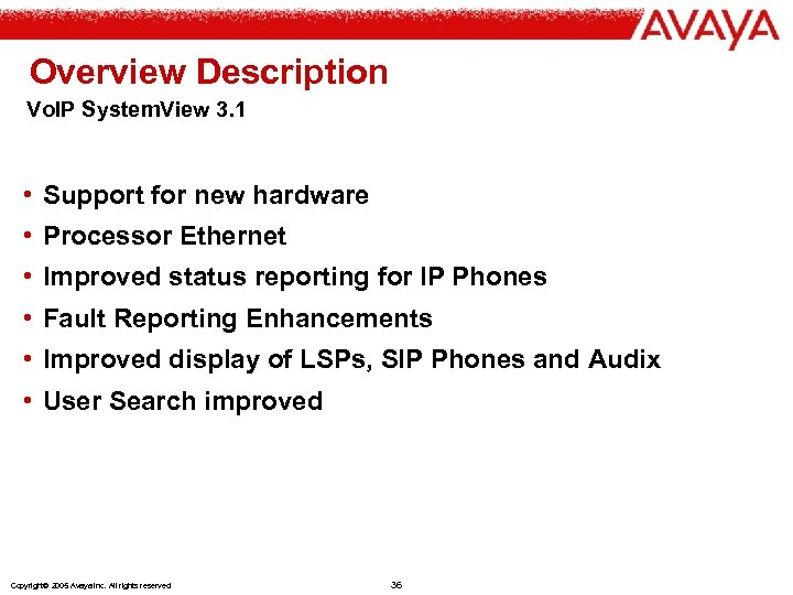 Overview Description Vo. IP System. View 3. 1 • Support for new hardware •