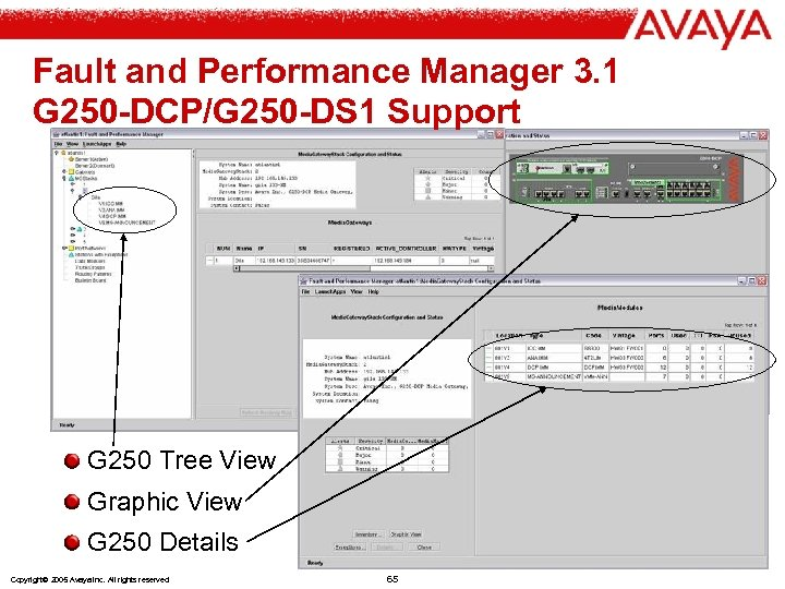 Fault and Performance Manager 3. 1 G 250 -DCP/G 250 -DS 1 Support G