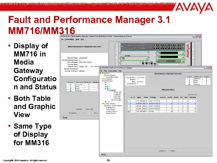 Fault and Performance Manager 3. 1 MM 716/MM 316 • Display of MM 716