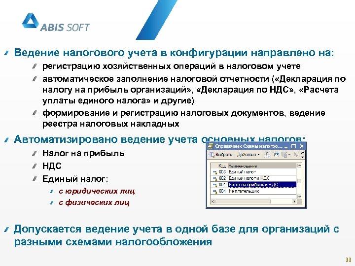 Ведение налогового учета в конфигурации направлено на: регистрацию хозяйственных операций в налоговом учете автоматическое
