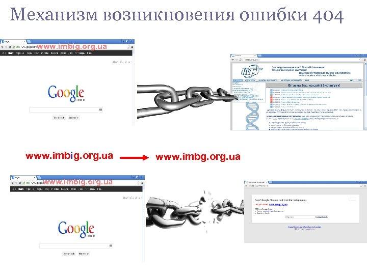 Механизм возникновения ошибки 404 www. imbig. org. ua www. imbg. org. ua