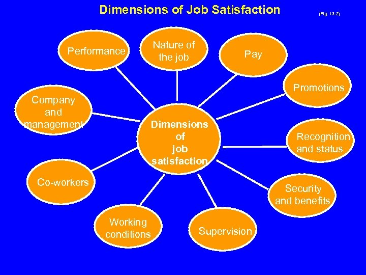 Dimensions of Job Satisfaction Performance Nature of the job (Fig. 13 -2) Pay Promotions