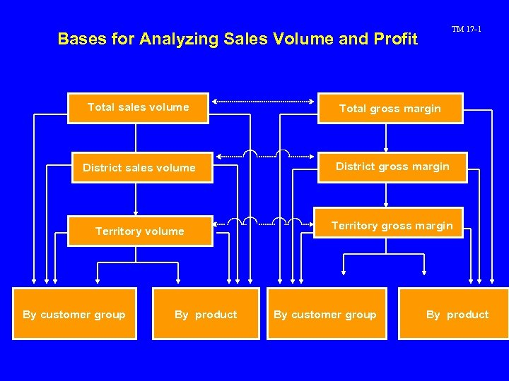TM 17 -1 Bases for Analyzing Sales Volume and Profit Total sales volume Total