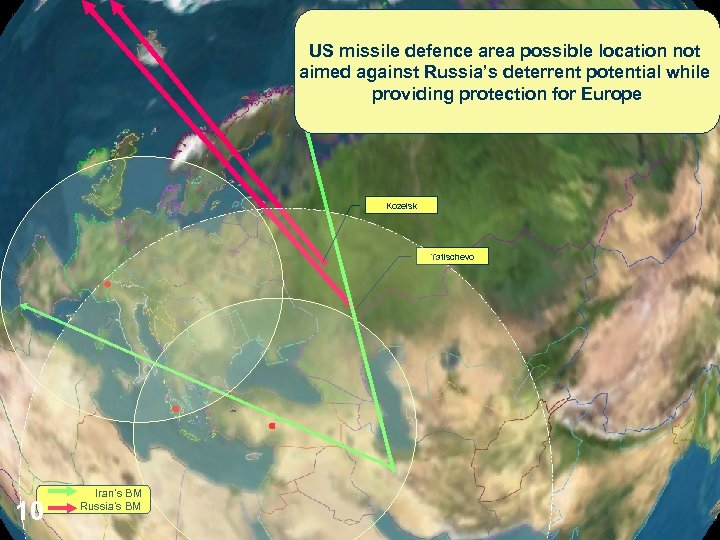US missile defence area possible location not aimed against Russia's deterrent potential while providing