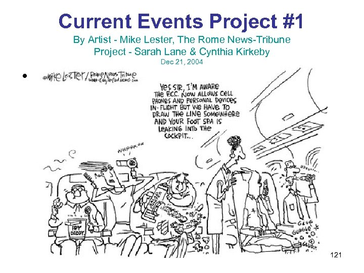 Current Events Project #1 By Artist - Mike Lester, The Rome News-Tribune Project -