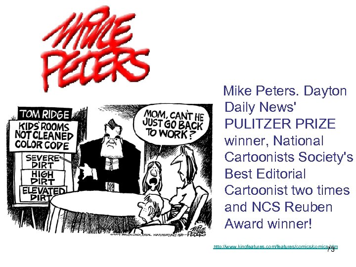 Mike Peters. Dayton Daily News' PULITZER PRIZE winner, National Cartoonists Society's Best Editorial
