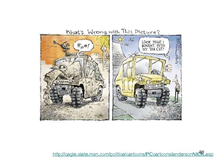 86 http: //cagle. slate. msn. com/politicalcartoons/PCcartoons/anderson. NICK. asp
