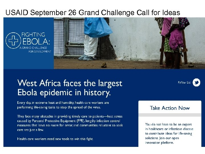 USAID September 26 Grand Challenge Call for Ideas