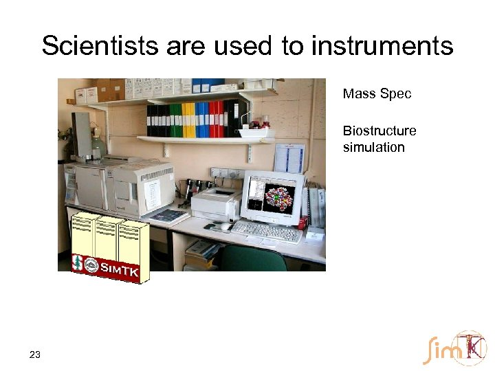 Scientists are used to instruments Mass Spec Biostructure simulation 23