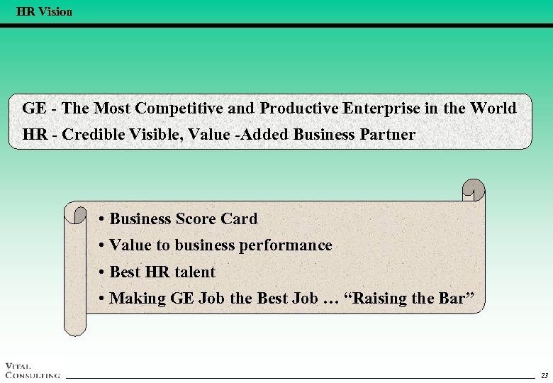 HR Vision GE - The Most Competitive and Productive Enterprise in the World HR