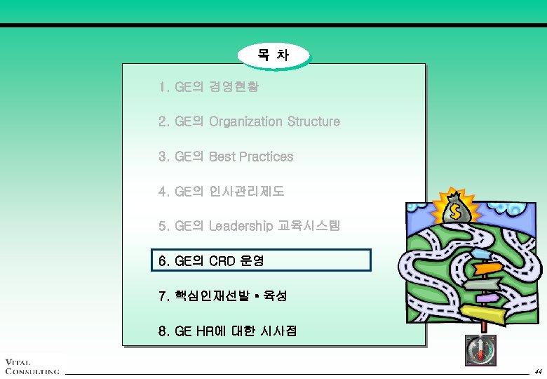 목 차 1. GE의 경영현황 2. GE의 Organization Structure 3. GE의 Best Practices 4.