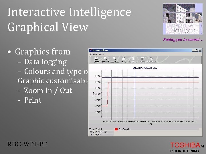 Interactive Intelligence Graphical View Putting you in control… • Graphics from – Data logging
