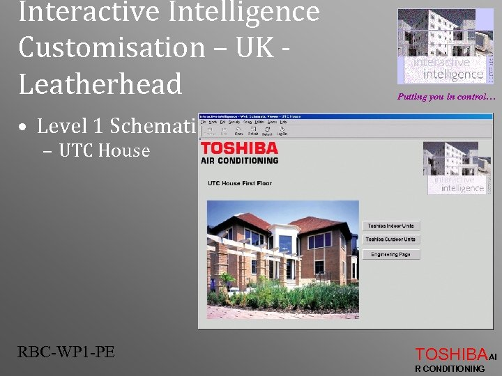 Interactive Intelligence Customisation – UK Leatherhead Putting you in control… • Level 1 Schematic