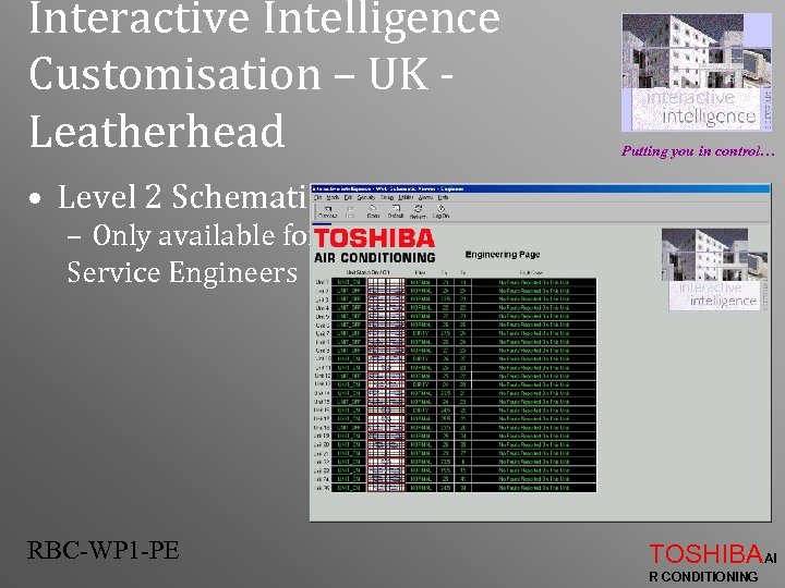 Interactive Intelligence Customisation – UK Leatherhead Putting you in control… • Level 2 Schematic