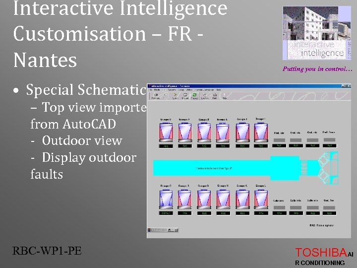 Interactive Intelligence Customisation – FR Nantes Putting you in control… • Special Schematic –