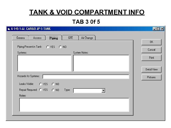 TANK & VOID COMPARTMENT INFO TAB 3 0 f 5